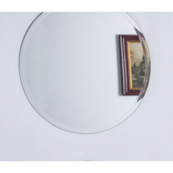 Bellaterra 808312A-M 22'' Round Frameless Mirror, Mount Type- Horizontal & Vertical