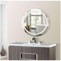 Bellaterra 808451-M-36 36 in. Round LED Bordered Illuminated Mirror