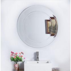 Bellaterra 808999C-M Round Frameless Mirror, Mount Type- Vertical & Horizontal
