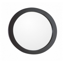 Bellaterra 9900-M Round Framed Mirror-Manufactured Wood