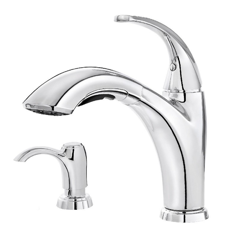 Pfister F 534 P Selia 1 Handle Pull Out Kitchen Faucet