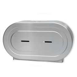 """Palmer Fixture RD0327-09F Twin 9"""" Jumbo W/2 1/4"""" And 3 3/8"""" Adaptor Brushed Stainless"""