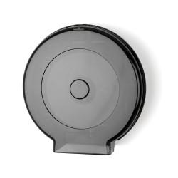 "Palmer Fixture RD0039-02F Senior 12"" Jumbo Bath Tissue Dispenser W/ 1 3/4"" And 3"" Adaptor Black Translucent"