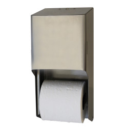 Palmer Fixture RD0325-09 Metal Two-Roll Standard Tissue Dispenser Brushed Stainless