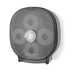 Palmer Fixture RD0044-01 4-Universal Roll Carousel Tissue Dispenser Dark Translucent