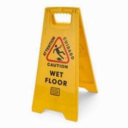 Palmer Fixture CS0701-19 Caution Wet Floor Sign 2 - Sided Yellow