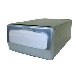Palmer Fixture ND0061-13 Counter-top Mini Fold Napkin Dispenser Brushed Steel