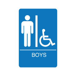 Palmer Fixture IS100 Accessible Restroom Blue