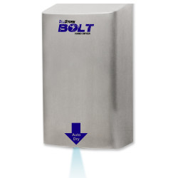 Palmer Fixture HD09 BluStrom Bolt High Speed Hand Dryers Brushed Stainless