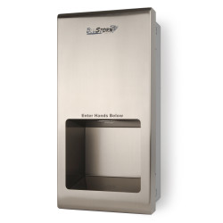 Palmer Fixture HD0955-09 BluStrom 2 Recessed High Speed Hand Dryers Brushed Stainless