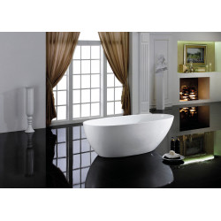 Bain Signature Bathtub Free-Standing Tub With No Faucet