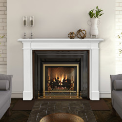 Pearl Mantels 535 The Radford Fireplace Mantel MDF White Paint