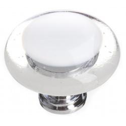 Sietto R-701 Reflective White Round Knob