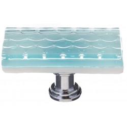 Sietto LK-901 Honeycomb Light Aqua Long Knob
