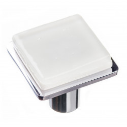 Sietto K-1300 Geomtric Square White On Square Knob