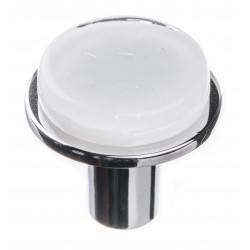 Sietto R-1300 Geomtric Round White On Round Knob