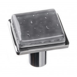 Sietto K-1301 Geomtric Square Slate Grey On Square Knob