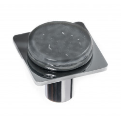 Sietto M-1301 Geomtric Round Slate Grey On Square Knob