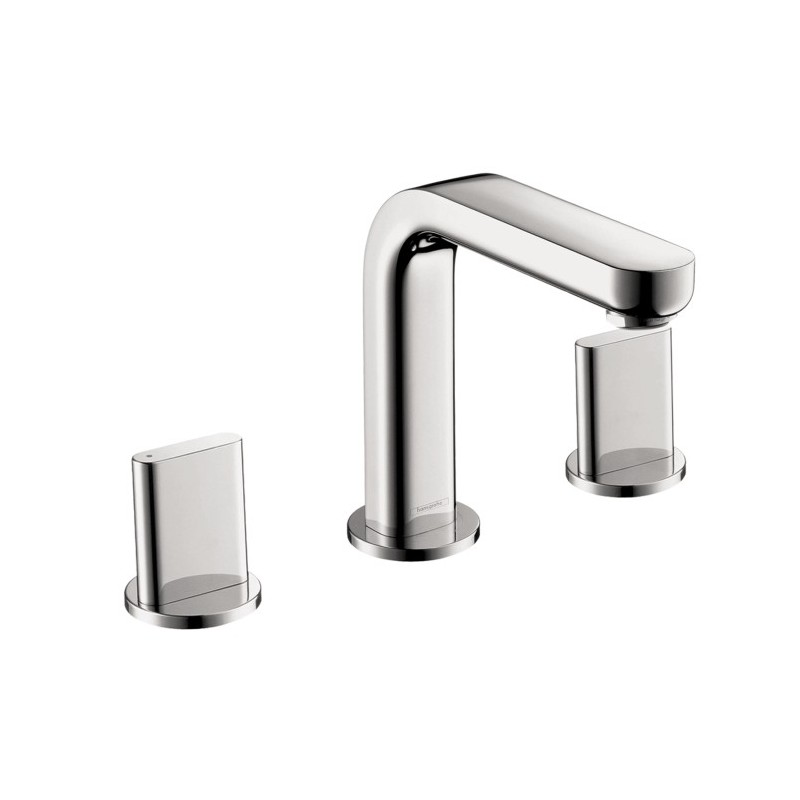 hansgrohe 31063001 metris s widespread faucet with full. Black Bedroom Furniture Sets. Home Design Ideas
