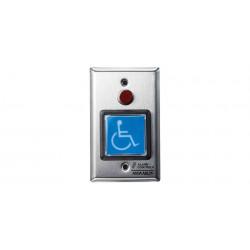 "Alarm Controls TS-5-2T | 2"" Square Blue Illuminated Push Button"
