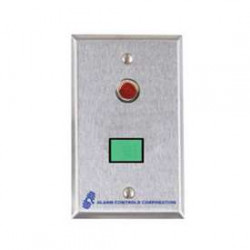 Alarm Controls SLP Single Gang, Stainless Steel Wall Plate, Illuminated Push Button, Monitoring & Control Stations