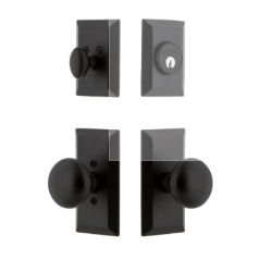 Ageless Iron 657277 Vale Short Plate Entry Set with Keep Knob