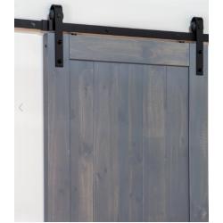 Ageless Iron 600004 Barn Door Hardware Track Kit (Track & Roller Only)