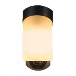 Maximus SPL09-05A1W4-BKT-K1 Camera Porch Light, Style-Contemporary, Finish-Black