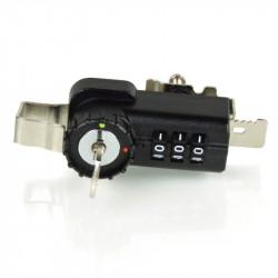 FJM Security 7861 Combination Hinged Door Ratchet Look with Key Override