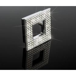 "ZEN ZP0615.122 Diamond Square Knob Width 2 3/8"" x Height 2 3/8"" Polished Chrome"