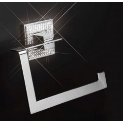 "ZEN BA0084.261 Diamond Towel Ring Width 7"" x Height 6 3/4"" Polished Chrome"