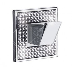 "ZEN BA0077.260 Diamond Hook Width 2 1/2"" x height 2 1/2"" Polished Chrome"