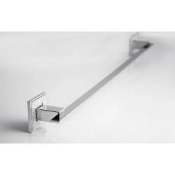 "ZEN BA008 Diamond Towel Bar, Stainless steel, Plate Dimension 2 1/2"", Bar Dimesion 3/4""x3/16"", Polished Chrome"