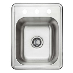 Fine Fixtures S Single Bowl Top Mount Stainless Steel Sink