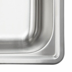 """Fine Fixtures S101 Single Bowl Top Mount Stainless Steel Sink - 17"""" x 22"""""""