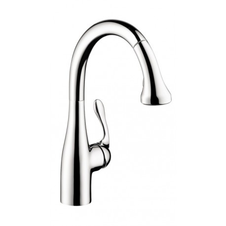 Hansgrohe 4066000 Allegro E Gourmet 2 Spray HighArc Kitchen Faucet,  Pull Down