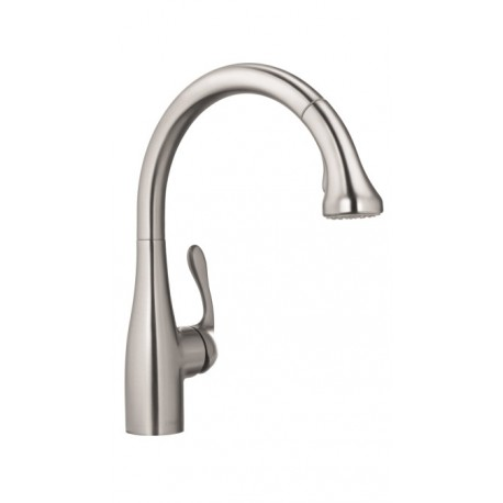 Hansgrohe 4066860 Allegro E Gourmet 2 Spray HighArc Kitchen Faucet,  Pull Down