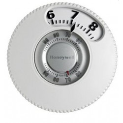 Chatham Brass T87N1026 Easy to See 1-Heat/1-Cool Round, Honeywell Low Voltage Controls, White