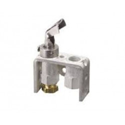 Chatham Brass Q314A4586 Pilot Burner for natural LP gas with a BCR-18 orifice, front single tip style