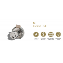 Medeco Removable Core Cabinet Lock, single keypull, less plug