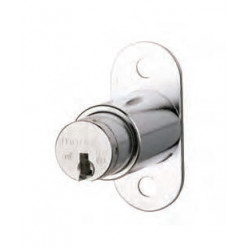 Medeco Cabinet Lock w/ Springbolt, Single Pull