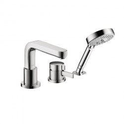 Hansgrohe 4126000 Metris S 3-Hole Thermostatic Tub Filler Trim