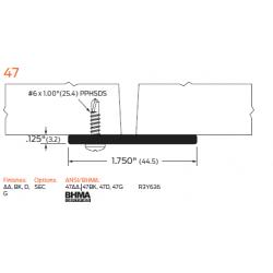"ZERO 47A/BK/D/G Astragal 1 3/4""(44.5) x 1/8""(3.2) - Meeting Stile"