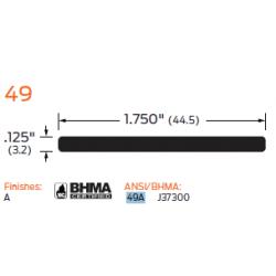 "ZERO 49A Aluminum Plate 1/8"" (3.2) x 1 3/4"" (44.5) - Threshold"