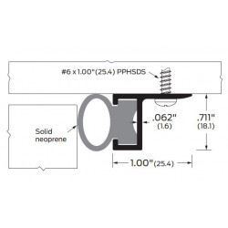 ZERO 272A/BK/D/G Door Stop / Neoprene - Gasketing