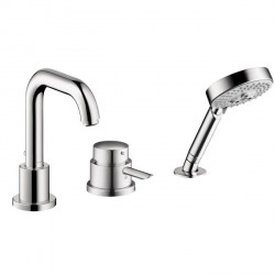 Hansgrohe 4128000 Focus S 3-Hole Thermostatic Tub Filler Trim