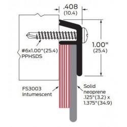 ZERO 339FS-AA/BK/D/G Neoprene - Door Sweep