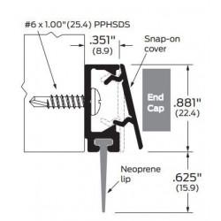 ZERO 477.AA/BK/D/G Snap-On Cover / Neoprene - Door Sweeps