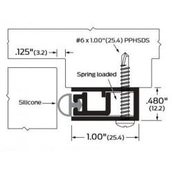 ZERO 570AA/BK/D/G Self-Adjusting /Silicone - Gasketing