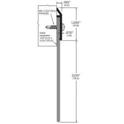 """ZERO 639WA/BK/D/G Neoprene / 3"""" (76.2) wide - Door Sweep"""